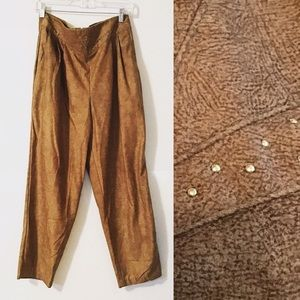 Vintage 90's Brown High Waisted Pleated Pants